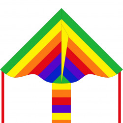 Simple Flyer Rainbow 85 cm