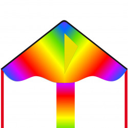 Simple Flyer Radiant Rainbow 85 cm