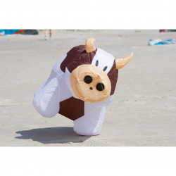 Bouncing Buddy Cow, Brown & White